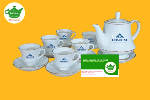 Bộ ấm trà Hoàng Gia in logo