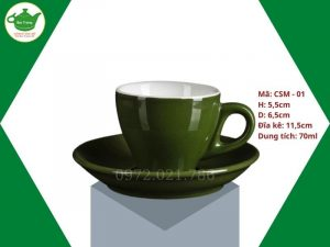 ly sứ cafe Cappuccino màu crom