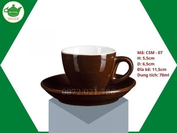 ly sứ Cappuccino màu nâu